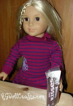 Free AG Doll Printables - Make a 1:3 Scale Bag of Hershey Kisses - AG Doll Crafts