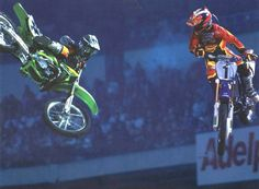 Ricky Carmichael (The GOAT) and Jeremy McGrath (The King) - the best poster ever. Dirt Bike Racing, Off Road Racing, Dirt Biking, 2 Stroke Dirt Bike, Ricky Carmichael, Hummer, Kawasaki Dirt Bikes, Travis Pastrana, Freestyle Motocross