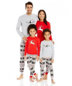 Christmas Reindeer Family Matching Pajamas Set – ourlittlerascal Matching  Family Outfits 7607c7c68