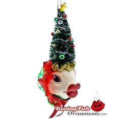 christmas tree kissing fish ornament from katherines holiday collection will be a great addition to your - Fish Christmas Ornaments