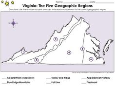 Blank Map Virginia Regions