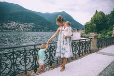 Barefoot Blonde in Lake Como at Casta Diva Resort and Spa