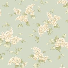 English Printed L x W Floral and Botanical Roll Wallpaper Brambly Cottage Colour: Sage Hydrangea Wallpaper, Flowery Wallpaper, Botanical Wallpaper, Embossed Wallpaper, Wallpaper Panels, Wallpaper Roll, Wall Wallpaper, Cool Color Palette, Pretty Wallpapers