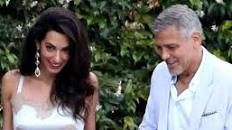 George Clooney with wife Amal before romantic dance during a charity fundraiser