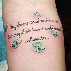 mermaid scales tattoos