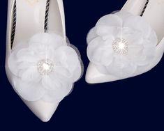 Pearl Shoes, Rhinestone Shoes, Ribbon Shoes, Bow Shoes, Organza Flowers, Bridal Flowers, Bridal Shoes, Wedding Shoes, Flower Shoes