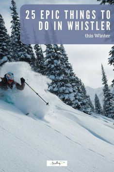 From forested light illuminations to silent spas, first class First Nations artwork to fire and ice shows, we've got the goods on 25 epic things to do in Whistler in winter. #whistler #onlyinwhistler #skiing #skitravel #wintertravel #familytravel Alberta Canada, Best Places To Travel, Cool Places To Visit, Ski Vacation, Winter Vacations, Vacation Ideas, Canada Travel, Columbia Travel, British Columbia