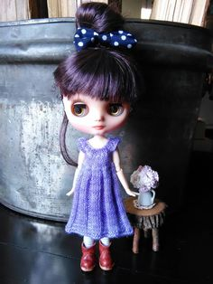 Middie Blythe Doll   Knitted Merino Dress by AuntieShrews on Etsy