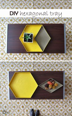 DIY hexagonal tray #tray #tutorial