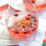 Cranberry Spice White Wine Christmas Sangria
