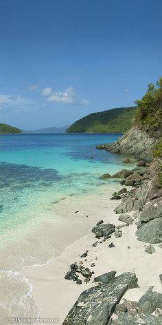 Cinnamon Bay Beach, part of the US Virgin Islands National Park on St John.   - Explore the World with Travel Nerd Nici, one Country at a Time. http://TravelNerdNici.com