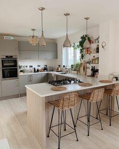 Kitchen Room Design, Home Room Design, Modern Kitchen Design, Living Room Kitchen, Home Decor Kitchen, Interior Design Kitchen, Home Kitchens, Best Home Design, Interior Home Decoration