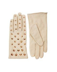embellished gloves for NYC    Enlarge ASOS Leather All Over Stud Gloves