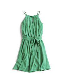 Stitch Fix Summer Stylist Picks: Green Tie Waist A-line Dress