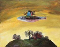 Castle in the sky (house) Stefan Caltia Castle In The Sky, Popular Artists, Magritte, Weird Art, Surreal Art, Modern Art, Sculpture, Crazy Art, Animals
