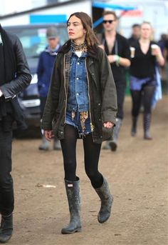 Alexa Chung at Glastonbury