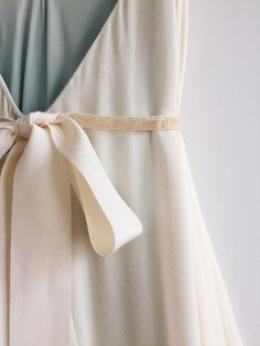 Subtle gold beaded wedding sash with tulle overlay on grosgrain ribbon ties. Thin and delicate, this romantic and feminine belt completes any whimsical dress. Wedding Sash, Wedding Bridesmaid Dresses, Dream Wedding Dresses, Wedding Gowns, Whimsical Dress, Yes To The Dress, Dream Dress, Wedding Styles, Marie