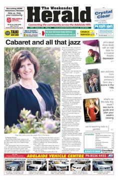 Latest edition of the Weekender Herald online now.   http://adelaidehills.realviewtechnologies.com/