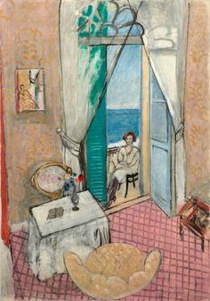 Henri Matisse, (1869-1954), 1919-20, Interior at Nice, model: Antoinette Arnoux, Oil on canvas. on ArtStack #henri-matisse #art