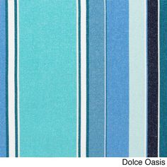 Indoor/ Outdoor 19-inch Striped Chair Cushion with Sunbrella Fabric (Dolce Oasis), Blue (Acrylic), Outdoor Cushion