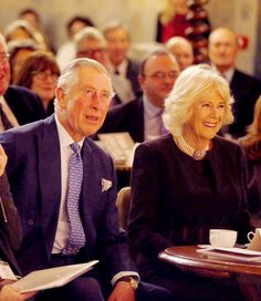 Prince Charles, Prince of Wales and Camilla,  Duchess of Cornwall react as they watch an act on stage at Wilton's  Music Hall, as they officially open the venue on January 28, 2016 in  London, England. The Prince and Duchess also met with historians and  architects involved in the venue's recent repair project.Source: WPA Pool/Getty Images Europe