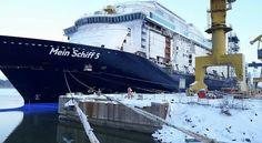 Mein Schiff 5 under construction!  Photo courtesy of Meyer Turku Facebook page.