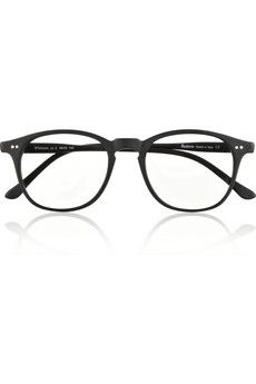 Whitman D-frame matte-acetate optical glasses by: Illesteva @Net-a-Porter (Global)