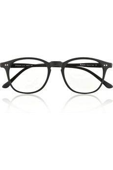 Whitman D-frame matte-acetate optical glasses by: Illesteva @Net-a-Porter (Global)