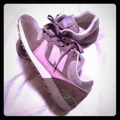 Pink & Gray New Balance shoes Vintage!!! I bought these in 2006 but wore them less than ten times. Never worn to gym. So comfortable!! In used but EXCELLENT condition New Balance Shoes