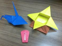Origami gifts from a colleague's daughter