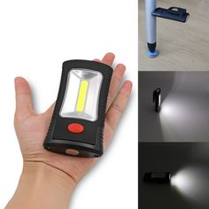 Portable COB LED Multifunctional  Magnetic Folding Hook Work Light Flashlight Lanterna Lamp for Camping Hunting  Fishing #Affiliate