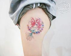Mermaid Shell, Tattoo On, Watercolor Tattoo, Watercolor Tattoos, Water Color Tattoos