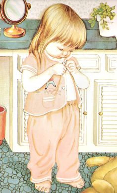 My Goodnight Book ~ Eloise Wilkin...I used to read this to my sweet Melissa & she even had jammies like this...