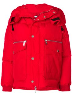 Shop Dsquared2 hooded down jacket