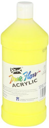 Sax True Flow Medium Bodied Acrylic Paint  Quart  Chrome Yellow -- See this great product. (This is an affiliate link)