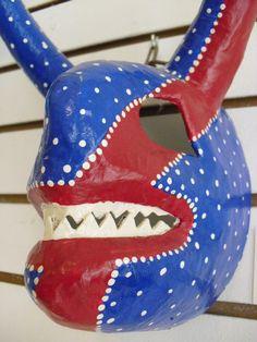 Paper Mache Vejigante Puerto Rican Carnival Mask
