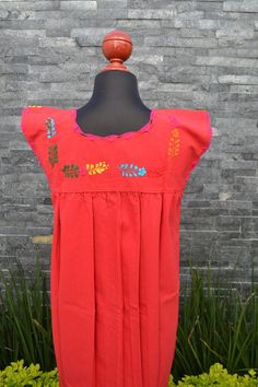 Chiapas Flowered Dress Huipil Dress Mexican Dress   Etsy Mexican Embroidered Dress, Mexican Dresses, Ethnic Dress, Mexican Style, Handmade Clothes, Flower Dresses, Colorful Flowers, Cotton Dresses, Hippie Boho