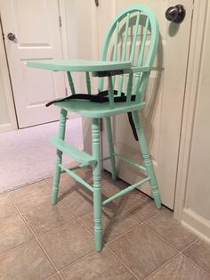 Vintage Wooden High Chair, Jenny Lind, Antique High Chair, Vintage High  Chair, Custom Painted High Chair, 1st Birthday, Smashcake