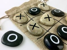 Kid Games Retro Game Board Games Travel Game Kids Activity Car Travel Wedding Kid Table Games With Rocks Family Game Tic Tac Toe- Lacey Gilles Board Game Wedding, Wedding Games, Wedding Ideas, Kids Table Wedding, Wedding With Kids, Trendy Wedding, Outdoor Games For Kids, Board Games For Kids, Kids Board