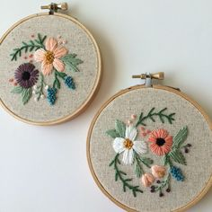 floral embroidery hoop tiny by LemonMadeShop on Etsy https://www.etsy.com/listing/524768542/floral-embroidery-hoop-tiny