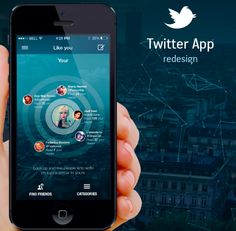 twitter 620x607 12 Briliant Mobile App Redesign Concepts