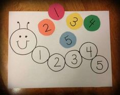 Letter C Activities, Toddler Learning Activities, Craft Activities, Preschool Crafts, Fun Learning, Number Recognition Activities, Preschool Number Activities, Activities For 3 Year Olds, Numbers For Preschool
