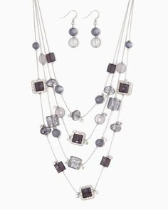 Floating Glass Necklace Set | Fashion Jewelry | charming charlie