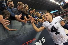 BYU football: Cougars recognize value of enjoying football, even in wild situations Book Of Mormon Stories, Byu Football, Make You Smile, Cooker, Sports, Hs Sports, Sport