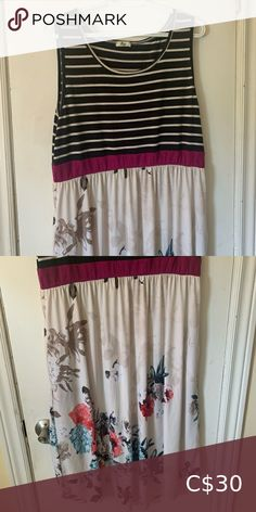 Flowy tank top dress from Egs Worn once, great dress. égs Dresses Midi Striped Midi Dress, Floral Maxi Dress, Breastfeeding Dress, Silver Sequin Dress, Striped Wedding, Gucci Dress, Jersey Knit Dress, Tank Top Dress, Stretch Dress