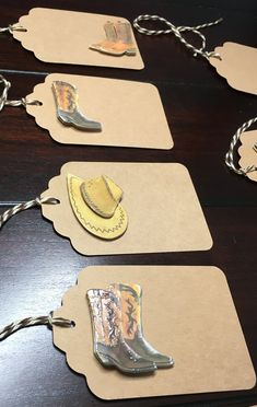 Cowboy Tags, Southern favor tags, Country Western Tags, Country Theme, Cowboy boots, Cowboy Gift Tags Goodie Bag Tags -9/order Western Cowboy, Cowboy Boots, Favor Tags, Gift Tags, 3 Hat, 3d Paper, Goodie Bags, Sticker Paper, Color Show