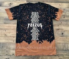 Yeezus Tour Bleached Distressed Tee Kanye West #clothing #shirt @EtsyMktgTool http://etsy.me/2iBxabL