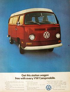 volkswagen bus advertisement - Google Search