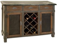 This wine storage sideboard offers rustic elegance...  A Classic addition to your home.  GET IT TODAY!
