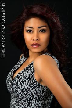Erika in Black & White Dress.